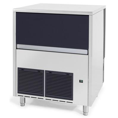 Maquina de pedras de gelo, 142 kg / 24h, caixa de recolha de gelo de 40 kg incluída, arrefecida a ar