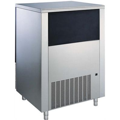 Máquina de fazer gelo, 42gr cubo, 130 kg / 24h, 65 kg caixa de coleta de gelo incluído, refrigerado a água