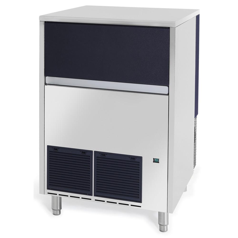 Maquina de pedras de gelo, 146 kg / 24h, caixa de recolha de gelo de 50 kg incluída, arrefecida a ar