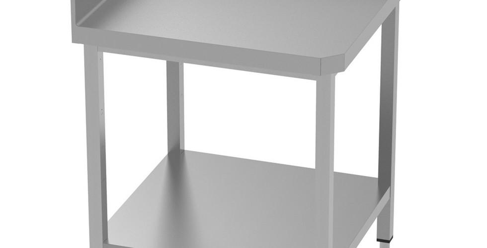 Mesa de Trabalho Tipo Canto de Preparação Estática Com Upstand 134022 Mesa de trabalho de canto com apoio de 100mm, 750x750mm