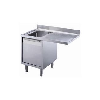 Preparação padrão  1200 milímetros pia do armário para máquina de lavar louça com 1 tigela e escorredor