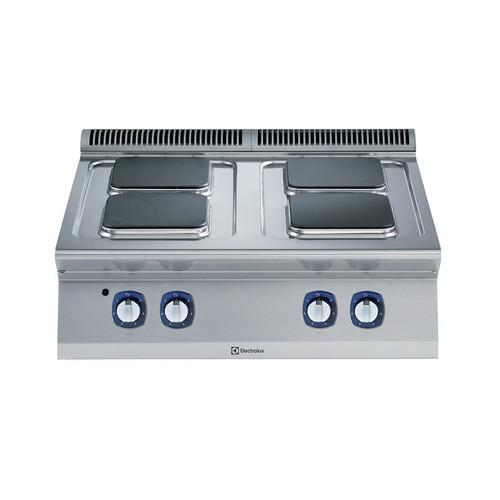 Linha de Cozinha Modular  700XP 4-Hot Placas Quadradas Elétrica Ferver Top Range