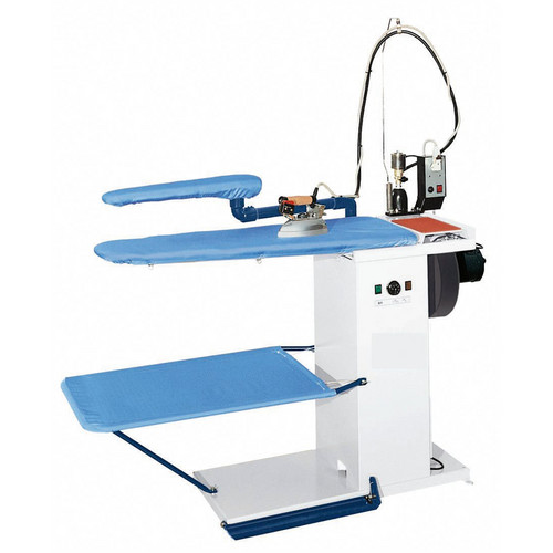 FIT2A Mesa de passar roupa a vácuo, elétrica aquecida. 1300 x 500 x 250 mm. Altura ajustável.