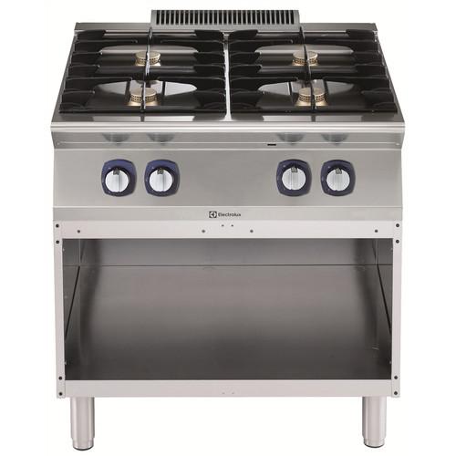 Linha de Cozinha Modular  700XP 4-Burner Gas Boiling Top em Base Aberta 800mm