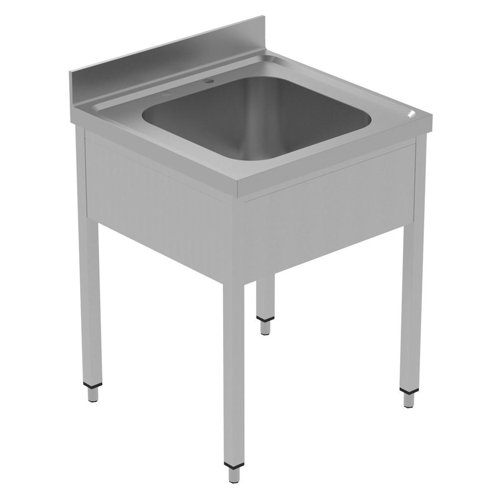 Preparação estática  Unidade de afundamento de 700 mm com 1 recipiente 134061 Unidade de pia com 1 tigela (500x600x300mm), 700mm