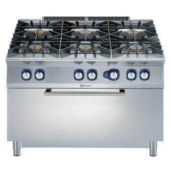 Linha de Cozinha Modular Linha  900XP Gama de Queimadores de 6 Gases 10 kW com Forno a Gás Grande com tampo de 3mm e ignição eléctrica