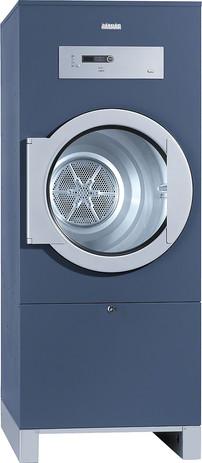 Secador de saída de ar, lados octo azul, a eletricidade no design SlimLine, com temporização, para ligação a um sistema de pagamento.