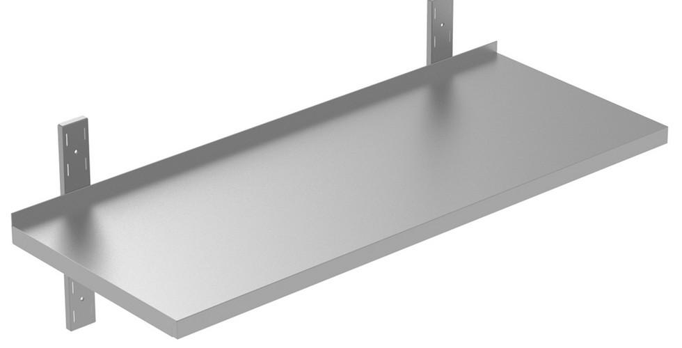 Preparação estática  Prateleira de parede maciça de 1000 mm com suportes 134148 Prateleira sólida com suportes de 1000mm