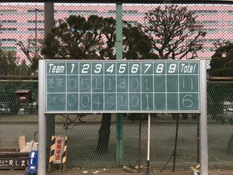 2017/2/5 午前 学童練習試合 VS 豊葉  平和島公園