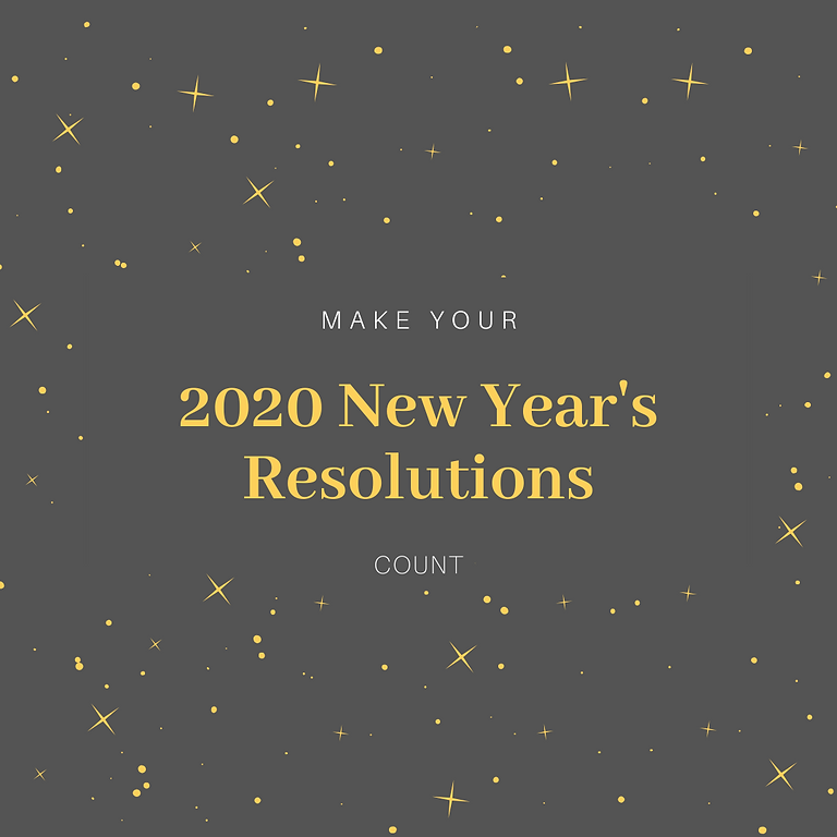 Make your 2020 New Year's Resolutions Count