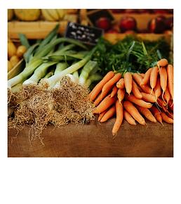 Food and lifestyle polaroid