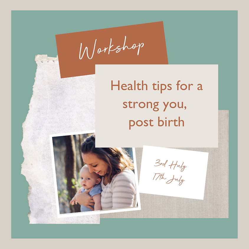 Health tips for a strong you, post-birth