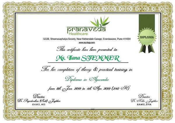 Pranaveda diploma - Kshamming.JPG