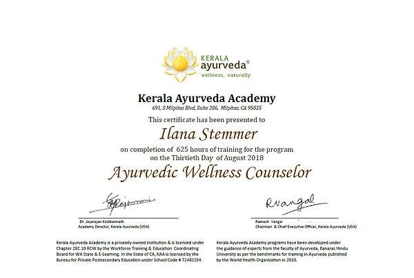 Kerala Ayurveda certificate - Kshamming.