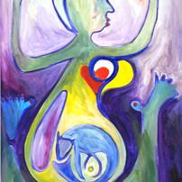 drieluik 3 de zwangerschap