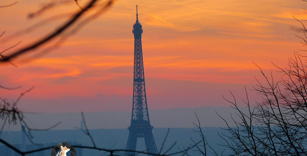 Eiffel Tower Colorful Sky Print