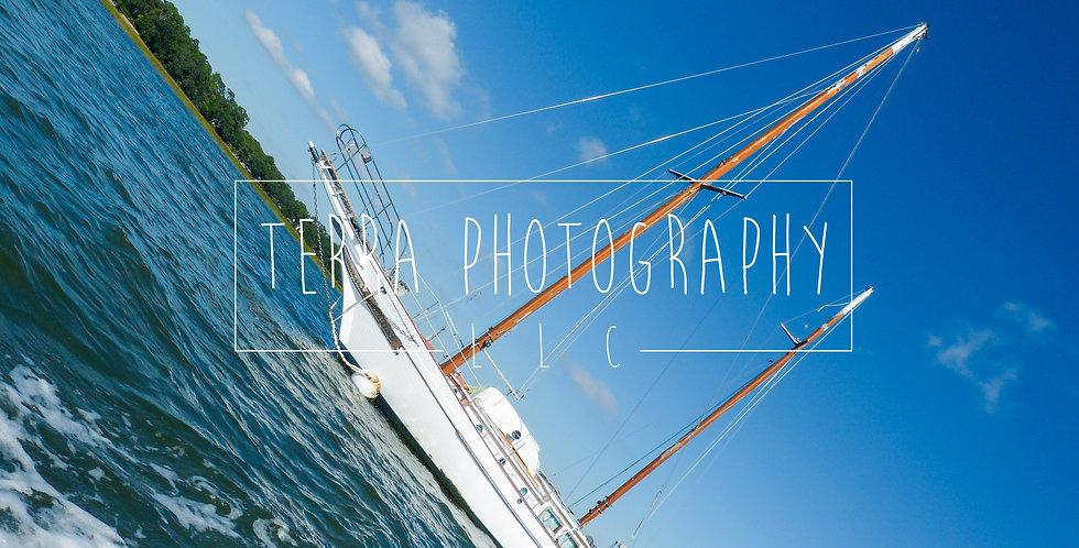 Boat At Sea Print