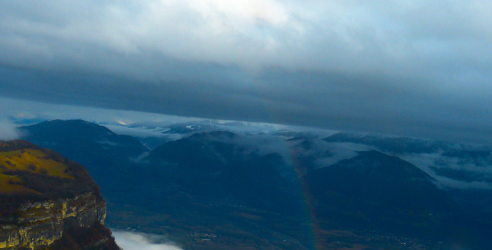 Rainbow in the Mountains Print