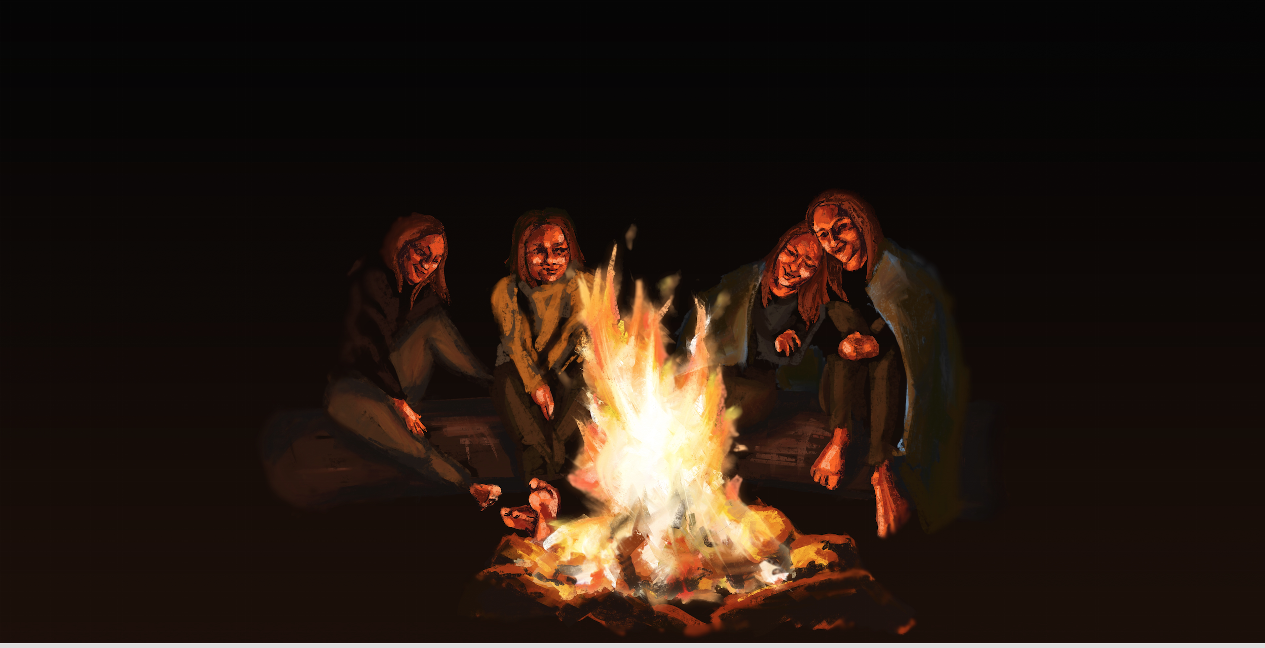 Campfire Digital Painting