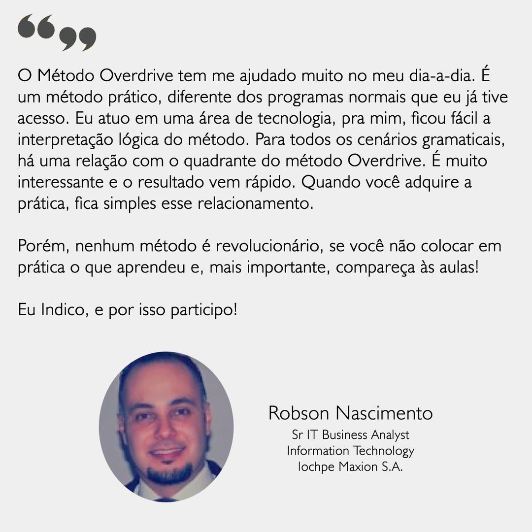 Depoimento - Robson Nascimento