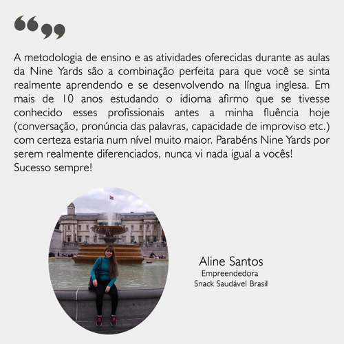 Depoimento - Aline Santos