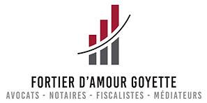Logo cabinet Fortier, d'Amour, Goyette