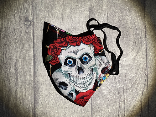 Face Masks - Skull Roses