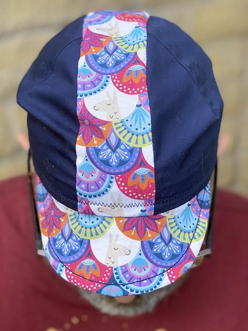Llama Cycling cap -Navy