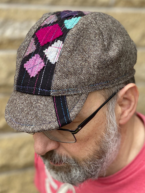Yorkshire Wool Cycling cap - Tweed/Freestyle