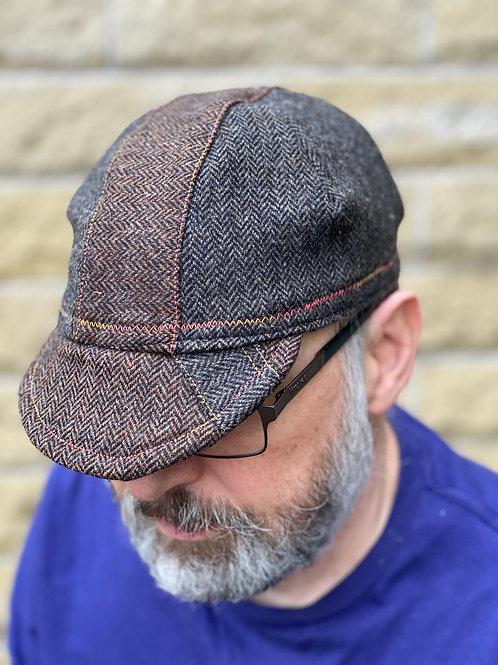 Yorkshire Wool Cycling cap - Herringbone