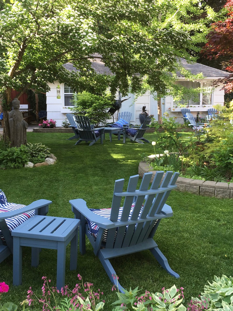 Relax in the tranquil courtyard