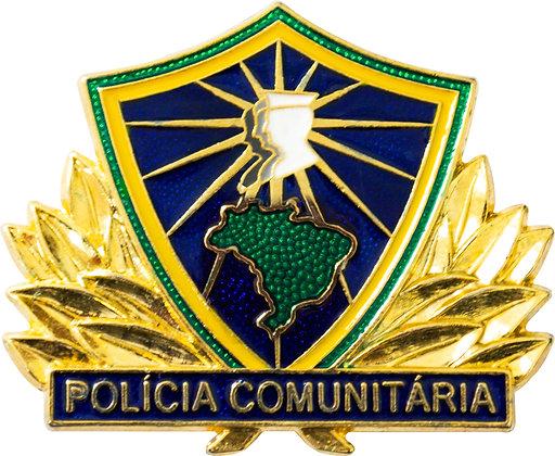 BOTON POLÍCIA COMUNITÁRIA BRASIL