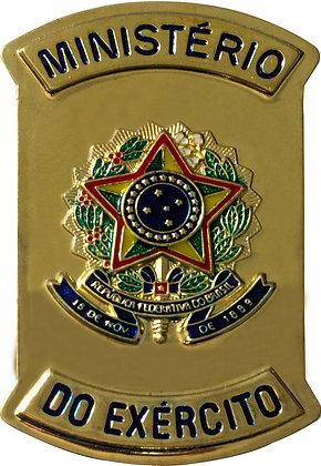 CHAPA MINISTÉRIO DO EXÉRCITO COM BRASÃO