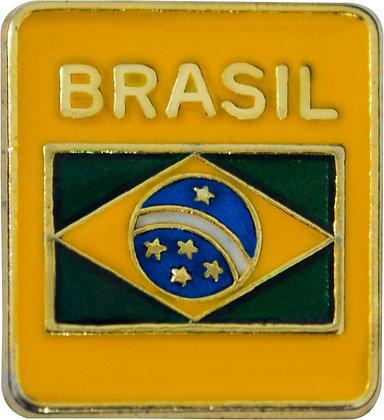 BOTON BANDEIRA DO BRASIL - AMARELO