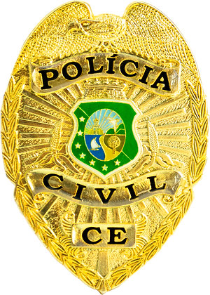 DISTINTIVO DE PEITO POLÍCIA CIVIL CE