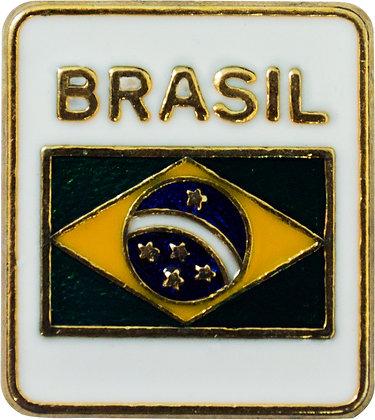 BOTON BANDEIRA DO BRASIL - BRANCA