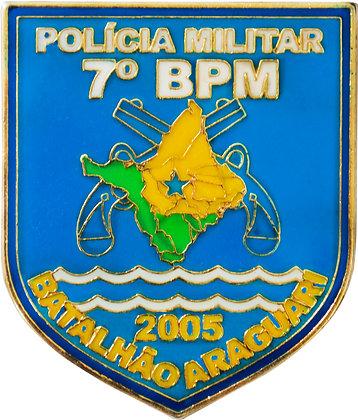 DISTINTIVO DE BOLSO 7º BPM ARAGUARI