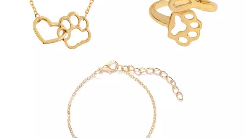 Gold Pet Lover Jewellery