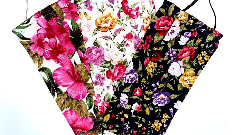 Floral 100% Cotton Masks