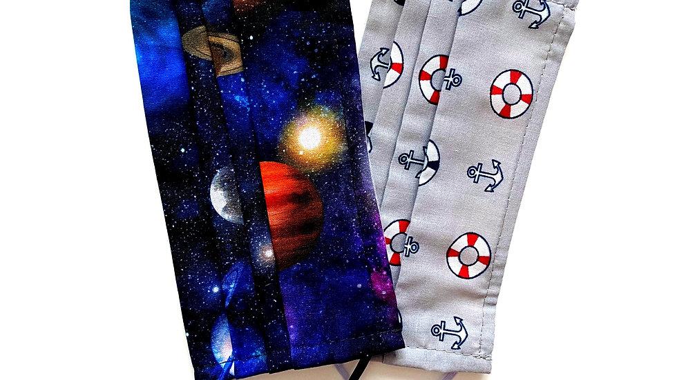 Galaxy & Sailor 100% Cotton Masks