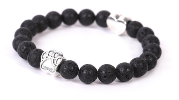 Lava Stone Pet Lover Bracelet