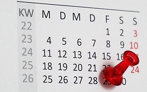 Kalender mit Pin