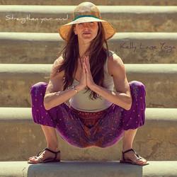 strengthen mind. low squat