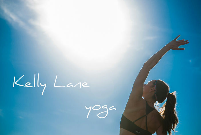 LOGO Kelly Lane Yoga logo. nature stretc