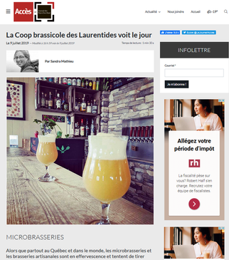 Nouvelle microbrasserie