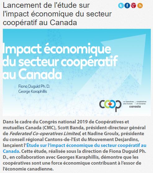 Lancement de l'étude sur l'impact économique