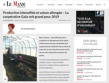 La coopérative Gaïa voit grand pour 2019
