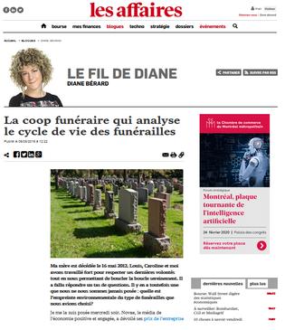 Analyse du cycle de vie par les coop funéraires