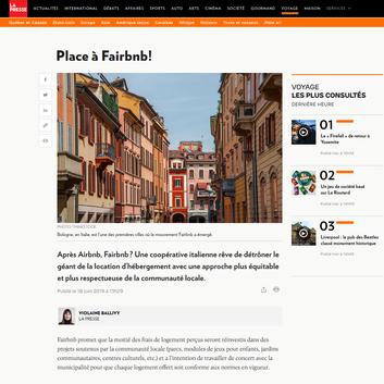 Après Airbnb, Fairbnb une coop italienne