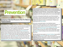 prevention magazine multivitamin